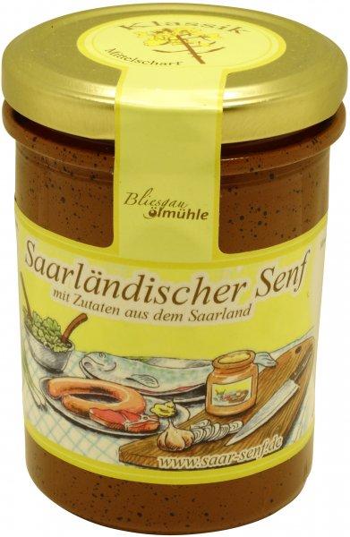 Saarländischer Senf Klassik, mittelscharf, Glas 222 ml