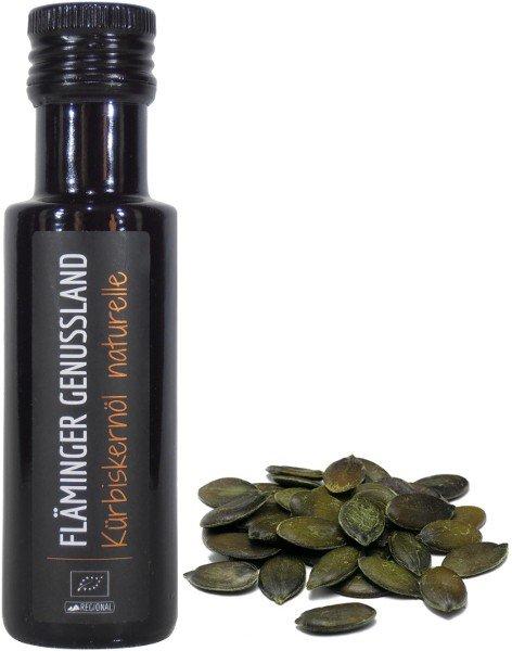 Fläminger Bio Kürbiskernöl naturelle, Flasche 100 ml