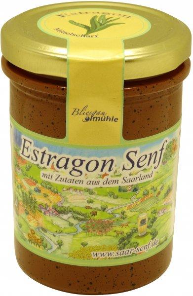 Saarländischer Estragon-Senf, mittelscharf, Glas 222 ml