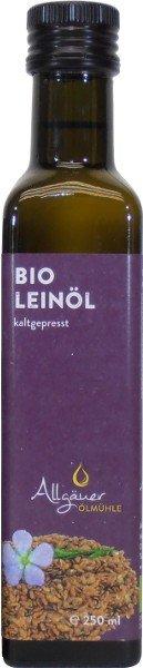 Allgäuer Ölmühle Allgäuer Bio Leinöl - 250 ml 0403