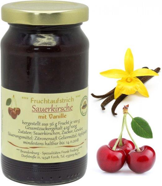 Fercher Fruchtaufstrich Sauerkirsche mit Vanille, Glas 235 g