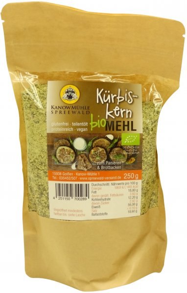 Spreewälder Bio Kürbiskern-Mehl, Packung 250 g