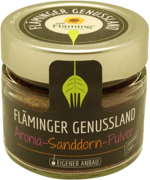 Fläminger Aronia-Sanddorn-Pulver, Glas: 80 g