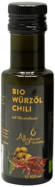 Allgäuer Bio Chili-Würzöl, Flasche 100 ml