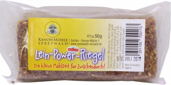 Spreewälder Lein-Power-Riegel, Riegel: ca. 50 g