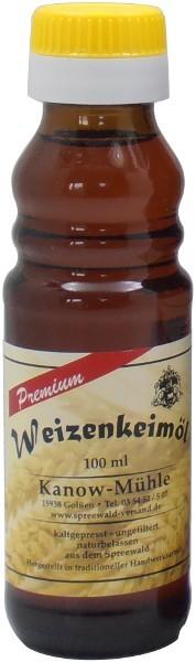 Spreewälder Weizenkeimöl, Premiumqualität, Flasche 100 ml