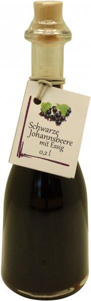 Fercher Schwarze Johannisbeere mit Essig, Flasche: 200 ml