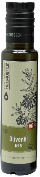 Italienisches Bio Olivenöl No. 5 -Apulien-, Flasche 100 ml