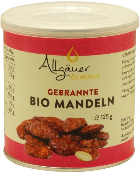Allgäuer gebrannte Bio Mandeln, Dose: 125 g