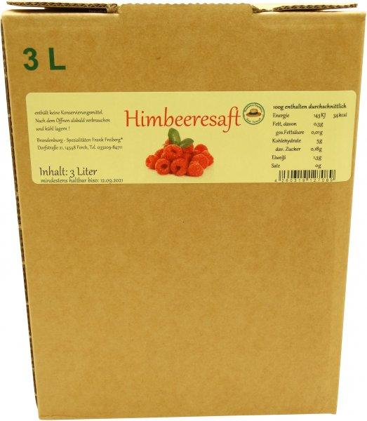 Fercher Himbeersaft, Karton: 3 Liter
