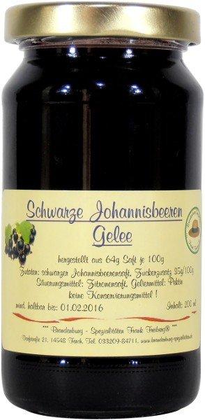 Fercher Schwarze Johannisbeeren-Gelee, Glas: 230 g