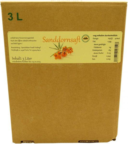 Fercher Sanddornsaft, Karton: 3 Liter