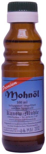 Kanow Mühle, Spreewald Spreewälder Mohnöl, Premiumqualität - 100 ml