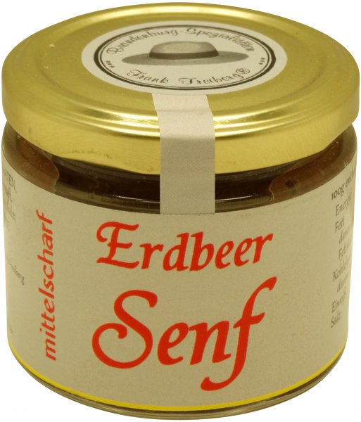 Fercher Erdbeer-Senf, mittelscharf, Glas 120 ml