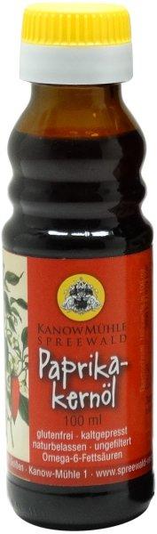 Ungarisches Paprikakernöl, Premiumqualität, scharf, Flasche 100 ml