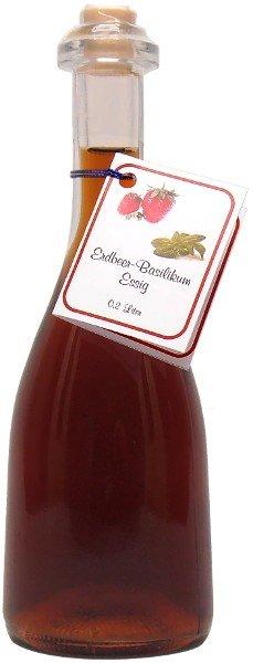 Fercher Erdbeer-Basilikum-Essig, Flasche: 200 ml