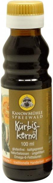 Spreewälder Kürbiskernöl, Premiumqualität, Flasche 100 ml