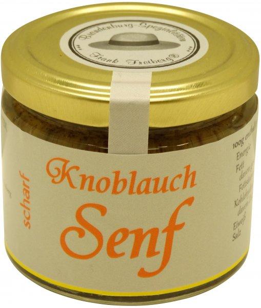Fercher Knoblauch-Senf, scharf, Glas: 120 ml