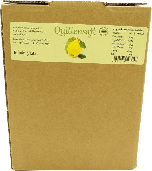 Fercher Quittensaft, Karton: 3 Liter