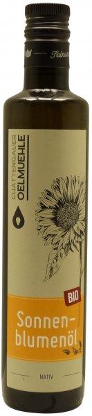 Chattengauer Bio Sonnenblumenöl nativ, Flasche 500 ml