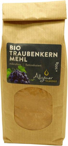 Allgäuer Bio Traubenkernmehl, Packung: 500 g