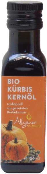 Allgäuer Bio Kürbiskernöl, geröstet, Flasche 100 ml