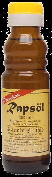 Spreewälder Rapsöl, Premiumqualität, 100 ml
