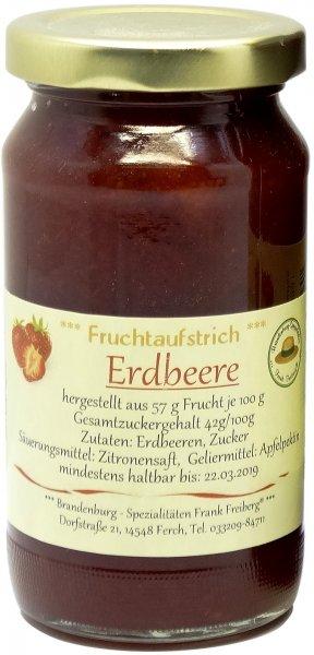 Fercher Fruchtaufstrich Erdbeere, Glas 235 g