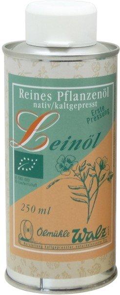 Badisches Bio Leinöl, kaltgepresst, Dose 250 ml