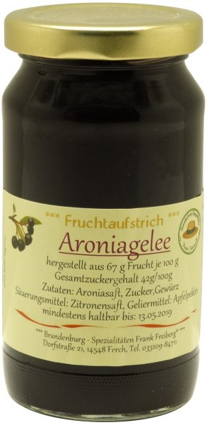 Fercher Aronia-Gelee, Glas 230 g