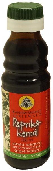 Ungarisches Paprikakernöl, Premiumqualität, mild, Flasche 100 ml