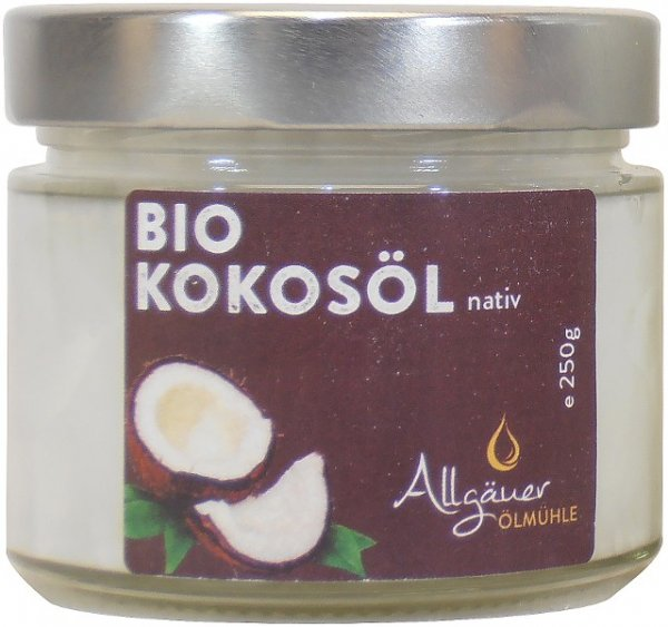 Allgäuer Bio Kokosöl, Glas 250 g