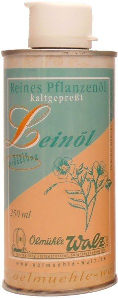 Badisches Leinöl, kaltgepresst, Dose 250 ml