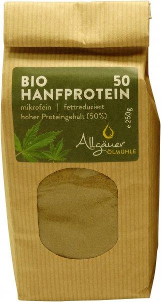 Allgäuer Bio Hanfmehl (Bio Hanfprotein 50), Packung: 250 g