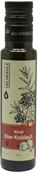 Chattengauer Bio Würzöl Olive-Knoblauch, Flasche 100 ml