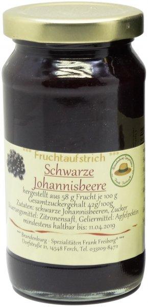 Fercher Fruchtaufstrich schwarze Johannisbeere, Glas 235 g