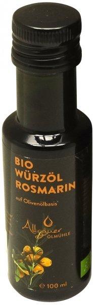 Allgäuer Bio Würzöl Rosmarin, Flasche 100 ml
