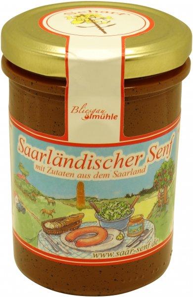 Saarländischer Senf, scharf, Glas 222 ml