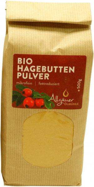 Allgäuer Bio Hagebuttenpulver, Packung: 500 g