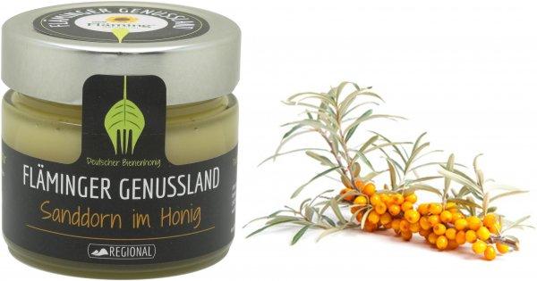 Fläminger Bienenhonig mit Sanddorn, Glas 250 g