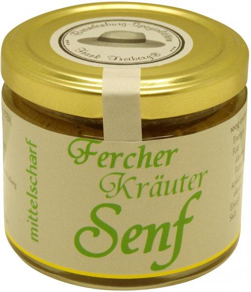 Fercher Kräuter-Senf, mittelscharf, Glas: 120 ml