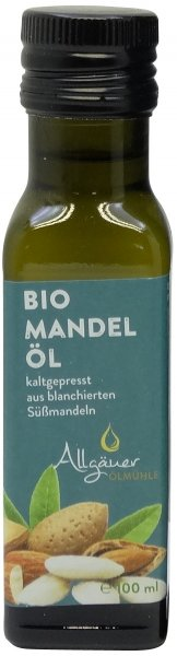 Allgäuer Bio Mandelöl, Flasche 100 ml