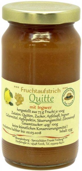 Fercher Fruchtaufstrich Quitte mit Ingwer, Glas 235 g