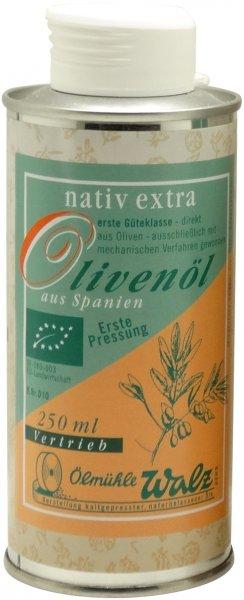 Spanisches Bio Olivenöl extra nativ, Dose 250 ml