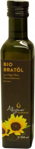 Allgäuer Bio Bratöl (HO-Sonnenblumenöl), Flasche 250 ml