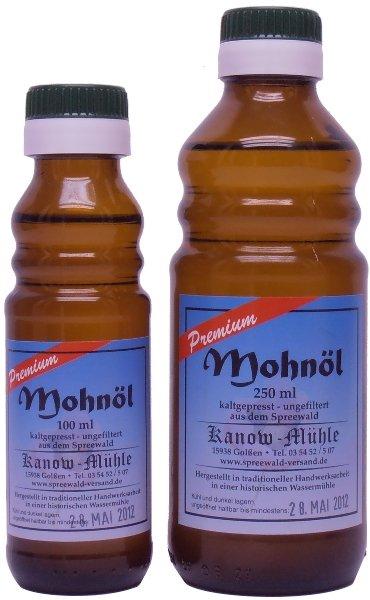 Kanow Mühle, Spreewald Spreewälder Mohnöl, Premiumqualität - 500 ml