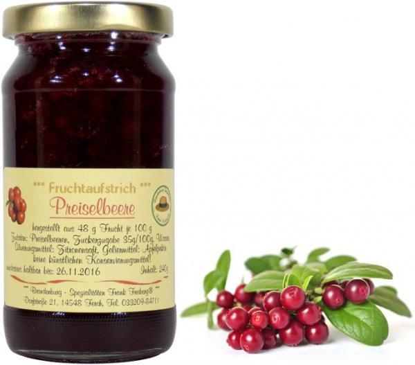 Fercher Fruchtaufstrich Preiselbeere, Glas 240 g