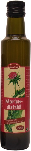 Saarländisches Mariendistelöl, Flasche 250 ml
