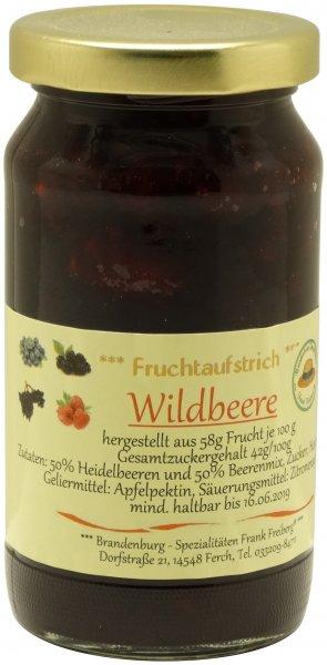 Fercher Fruchtaufstrich Wildbeere, Glas 235 g