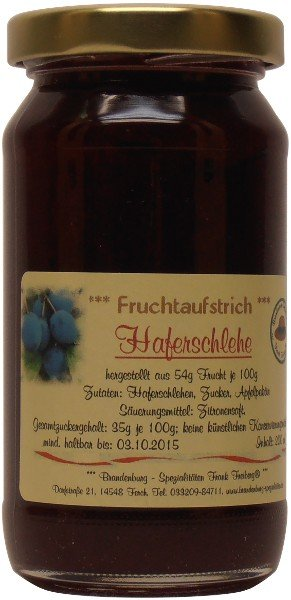 Fercher Fruchtaufstrich Haferschlehe, 200 ml